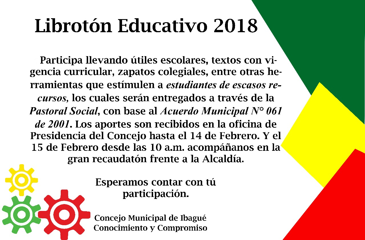 LIBROTÓN EDUCATIVO 2018